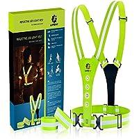 LUMEFIT High Visibility Vest Reflecterende hardloopvesten met armbanden High-Vis voor veiligheid van kinderen, dames…