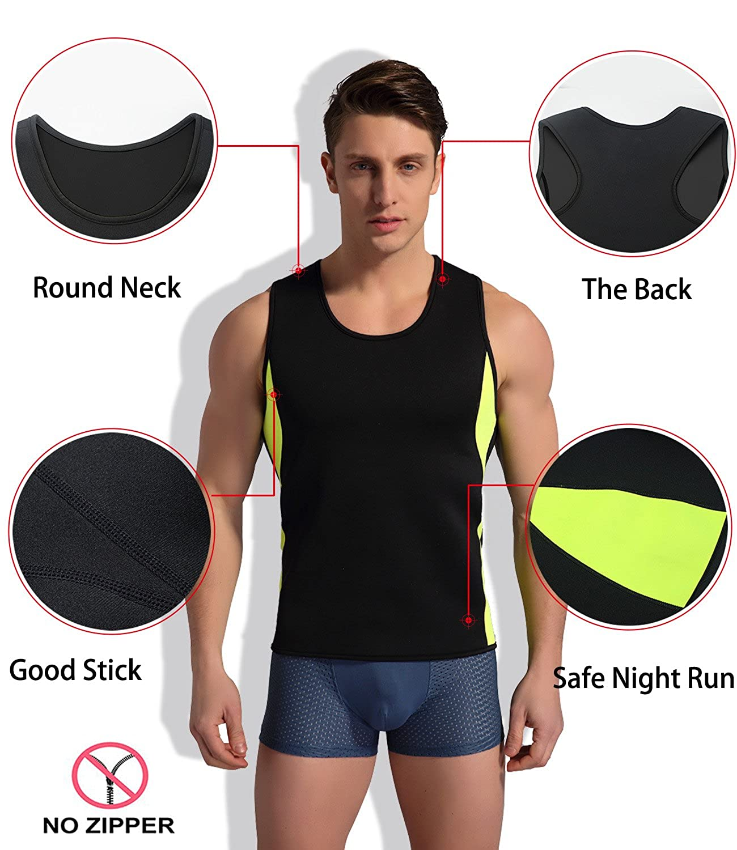 3412aabb0ef9 NINGMI Slimming Neoprene Sauna Suit for Men Hot Sweat Body Shaper ...
