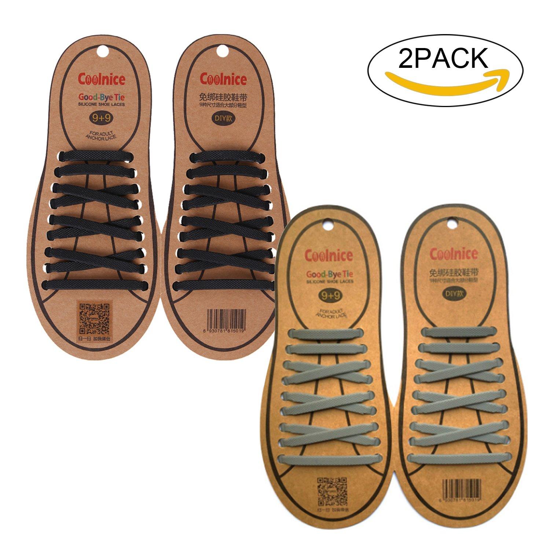 4336e7df11 Joyshare sin corbata Cordones de zapatos para niños y adultos Impermeables  cordones de zapatos de atletismo ...