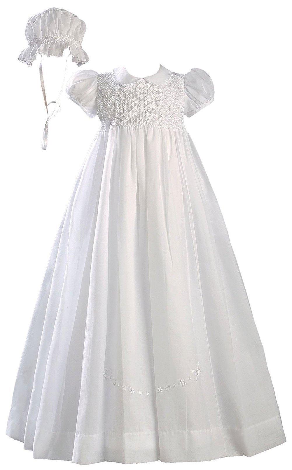 Brianna Polycotton Christening Gown