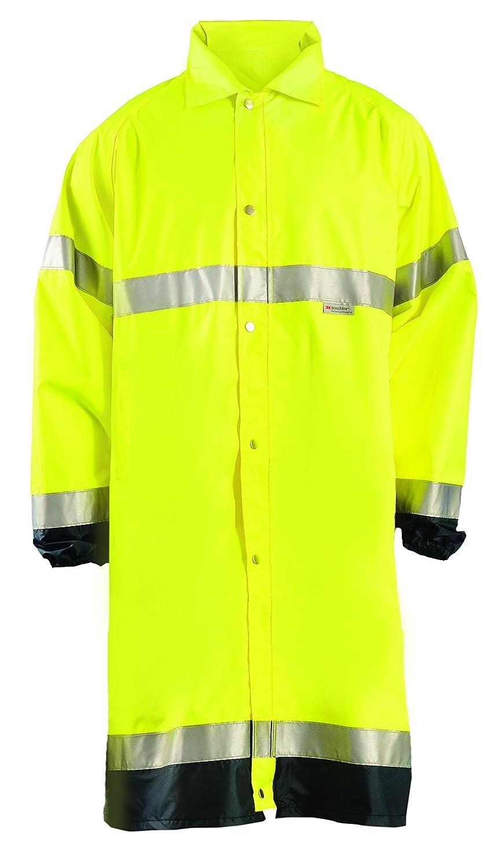 Class 3 Orange Classic Length OccuNomix LUX-TJR-O4X Premium Breathable Waterproof Rain Jacket 4X-Large