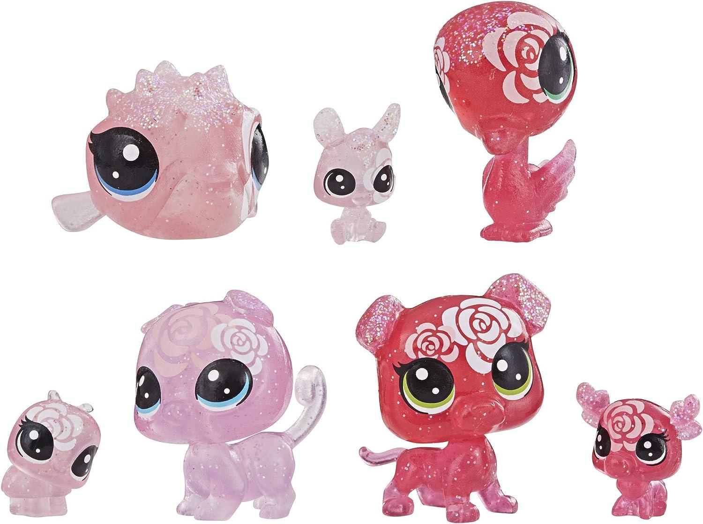 Littlest Pet Shop Petal Party Rose Collection, 7 Pets, Part of The Lps Petal Party Collection