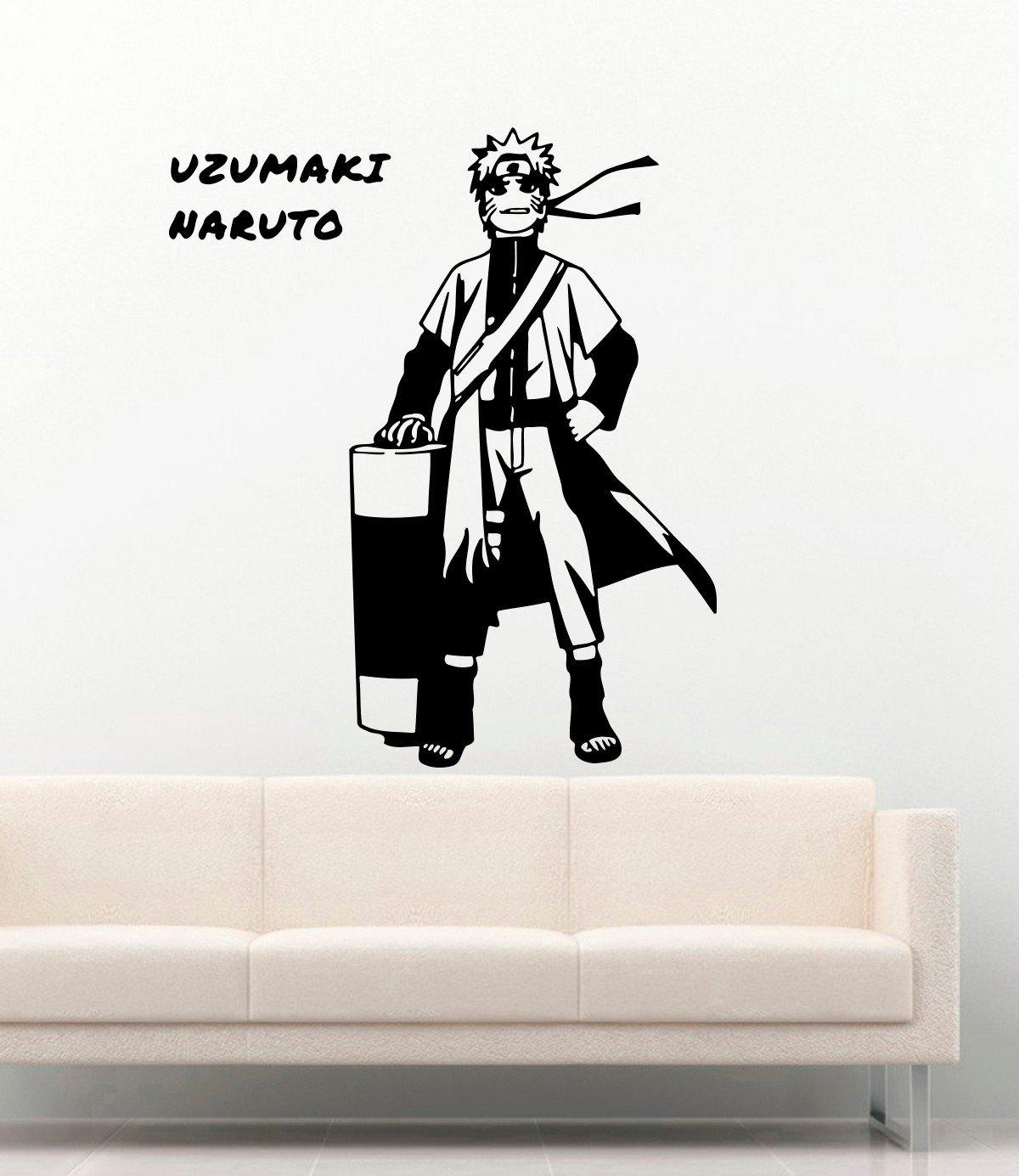 Amazon.com: Anime Vinyl Wall Decal For Boys Girls Naruto ...