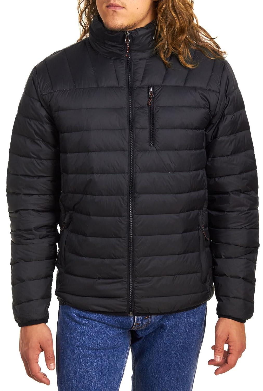 Hawke /& Co Mens Packable Down Jacket Hidden Hood