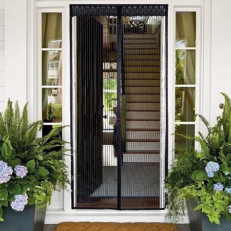 GOUDU Mosquitera Puerta Magnetica Mosquiteras para Puertas con Durable con Malla Super Fina para para Balcones - Negro 170x210cm(67x83inch): Amazon.es: Hogar
