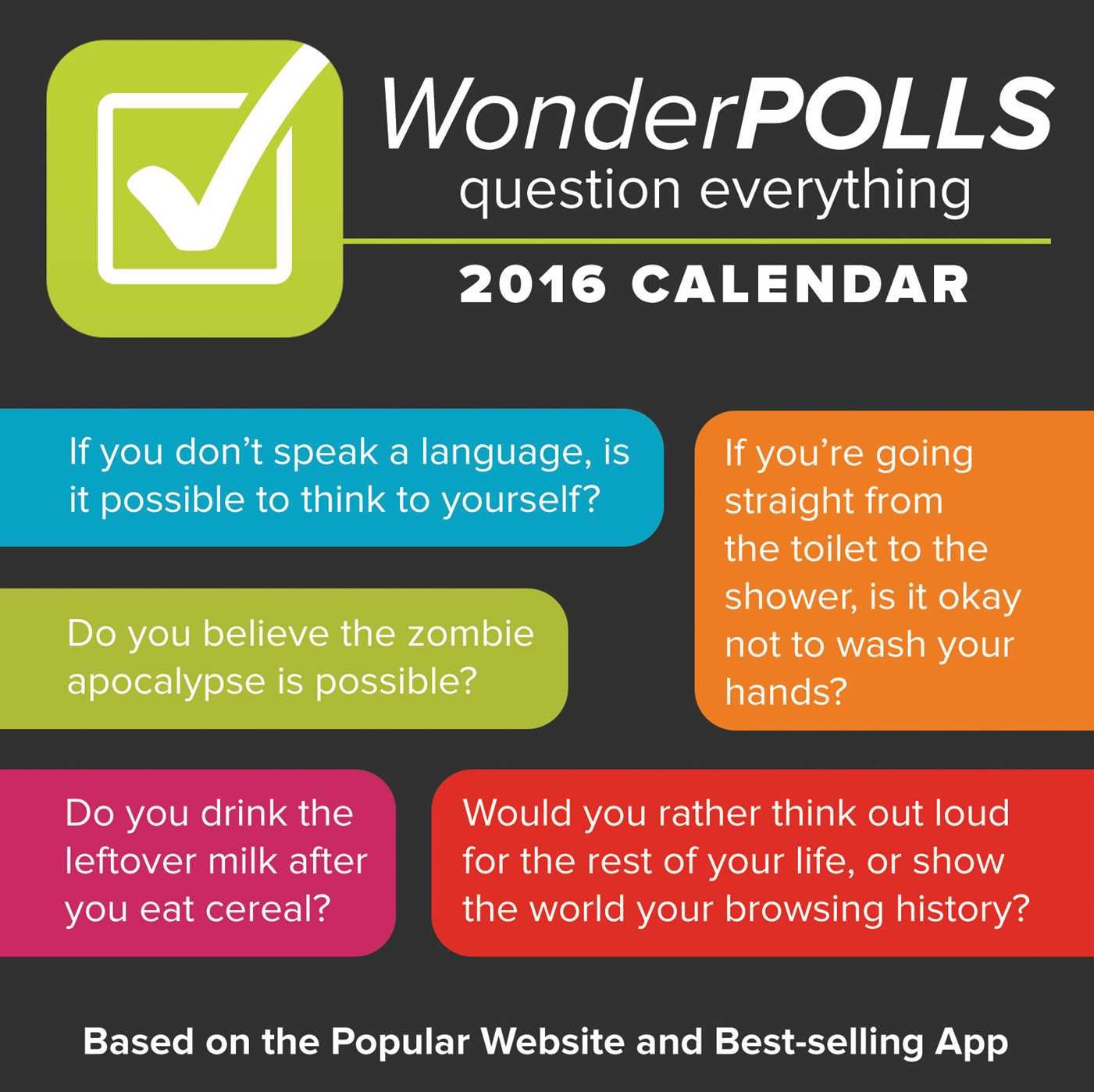 Wonderpolls question everything 2016 day to day calendar tim 2016 day to day calendar tim busbee 9781449470647 amazon books solutioingenieria Choice Image