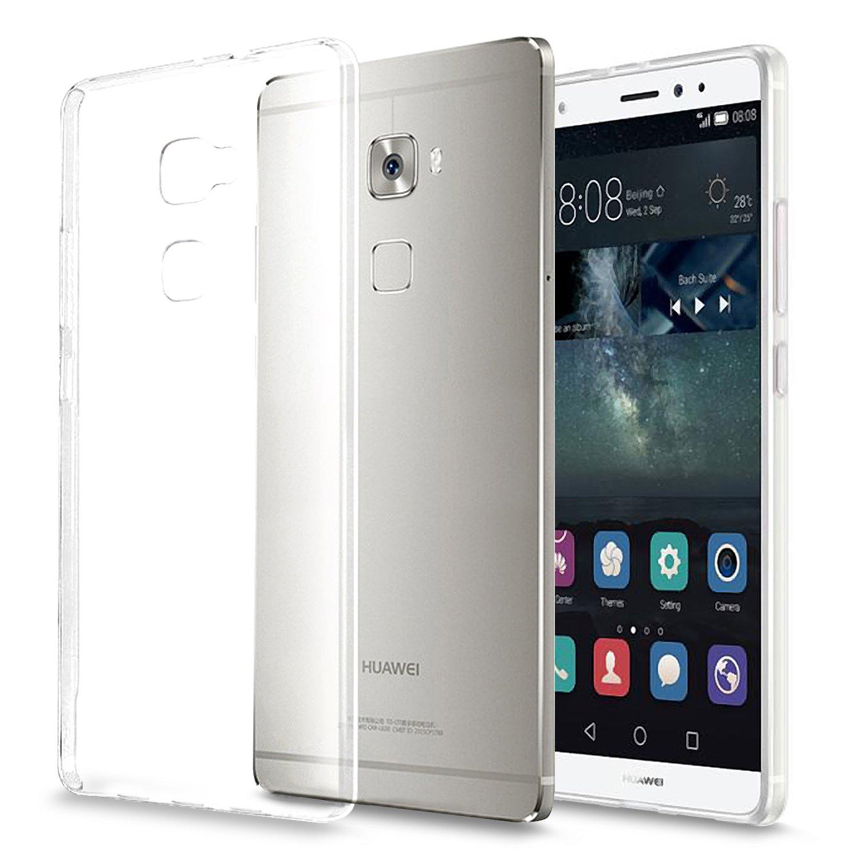 Huawei Mate S Funda, KKtick Cristal Claro Absorción TPU Parachoques Carcasa Case y Anti-Arañazos Flexible Transparente Funda protectora para Huawei Mate S