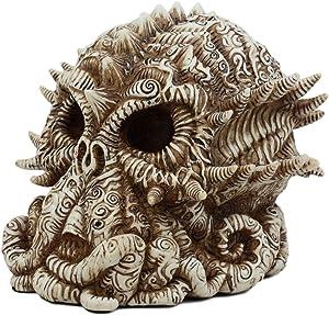 """Ebros Mythological God Cthulhu Skull Statue 7"""" Long Alien Monster Kraken Octopus Decorative Figurine"""