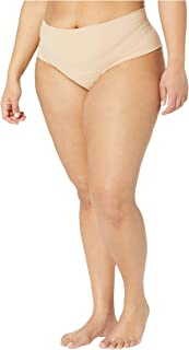 product image for hanky panky Plus Size Bare Godiva High-Rise Thong Biscotti 2X (20W-22W)
