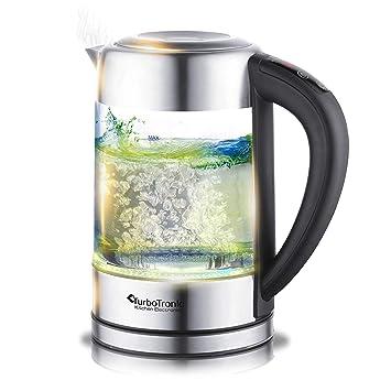 2200W hervidor de agua vidrio tetera el agua de la tetera El filtro de acero inoxidable