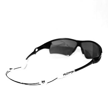 9b7cea79c90 Pilotfish No Tail Adjustable Eyewear Retainer - Sunglass Holder Strap -  Sunglasses Retainer - (White)