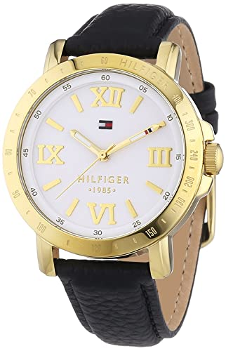 10b234a1b Tommy Hilfiger Watches LIV - Reloj Analógico de Cuarzo para Mujer, correa  de Cuero color Negro: Amazon.es: Relojes