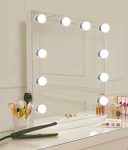 Amazon hollywood style led vanity mirror lights kit with 10 hollywood style led vanity mirror lights kit with 10 dimmable light bulbs usb powered lighting aloadofball Choice Image