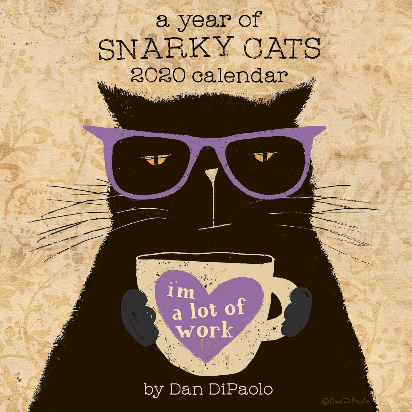 Year Of Snarky Cats 2020 Square Wall Calendar