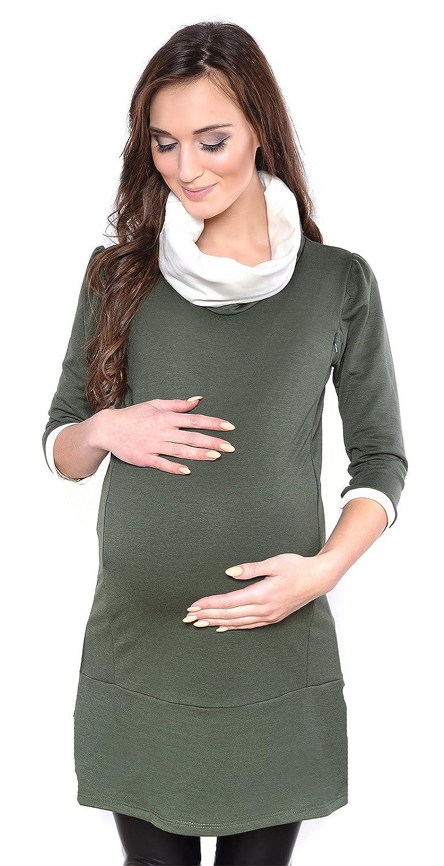 MijaCulture - Chemise Longue élégante Maternité et Grosses Tunique Lady 7130