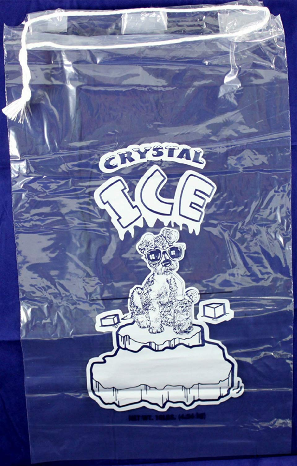 Pinnacle Mercantile Plastic Ice Bags 10 Lb. with Draw String Closure Pack 500 by Pinnacle Mercantile (Image #2)
