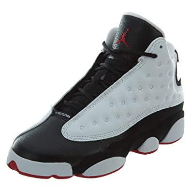 Jordan Retro 13 quot He Got Game White True Red-Black (Big Kid 7bb073279