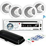 """Amazon Price History for:Marine Stereo Receiver Speaker Kit - In-Dash LCD Digital Console Built-in Bluetooth & Microphone 6.5"""" Waterproof Speakers (4) w/MP3/USB/SD/AUX/FM Radio Reader & Remote Control - Pyle PLCDBT85MRW"""