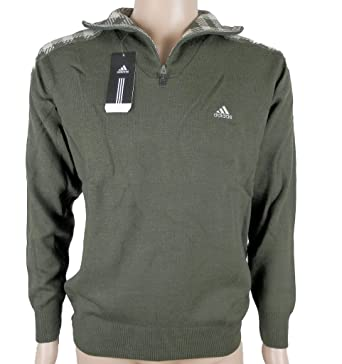 Adidas Badge PO 2 Herren Pullover Strickpullover Grün Neu
