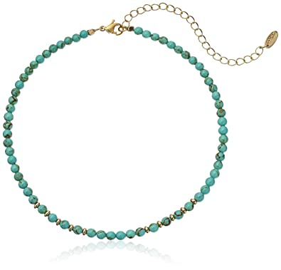Amazoncom Ettika Still Surprise You Turquoise and Gold Choker