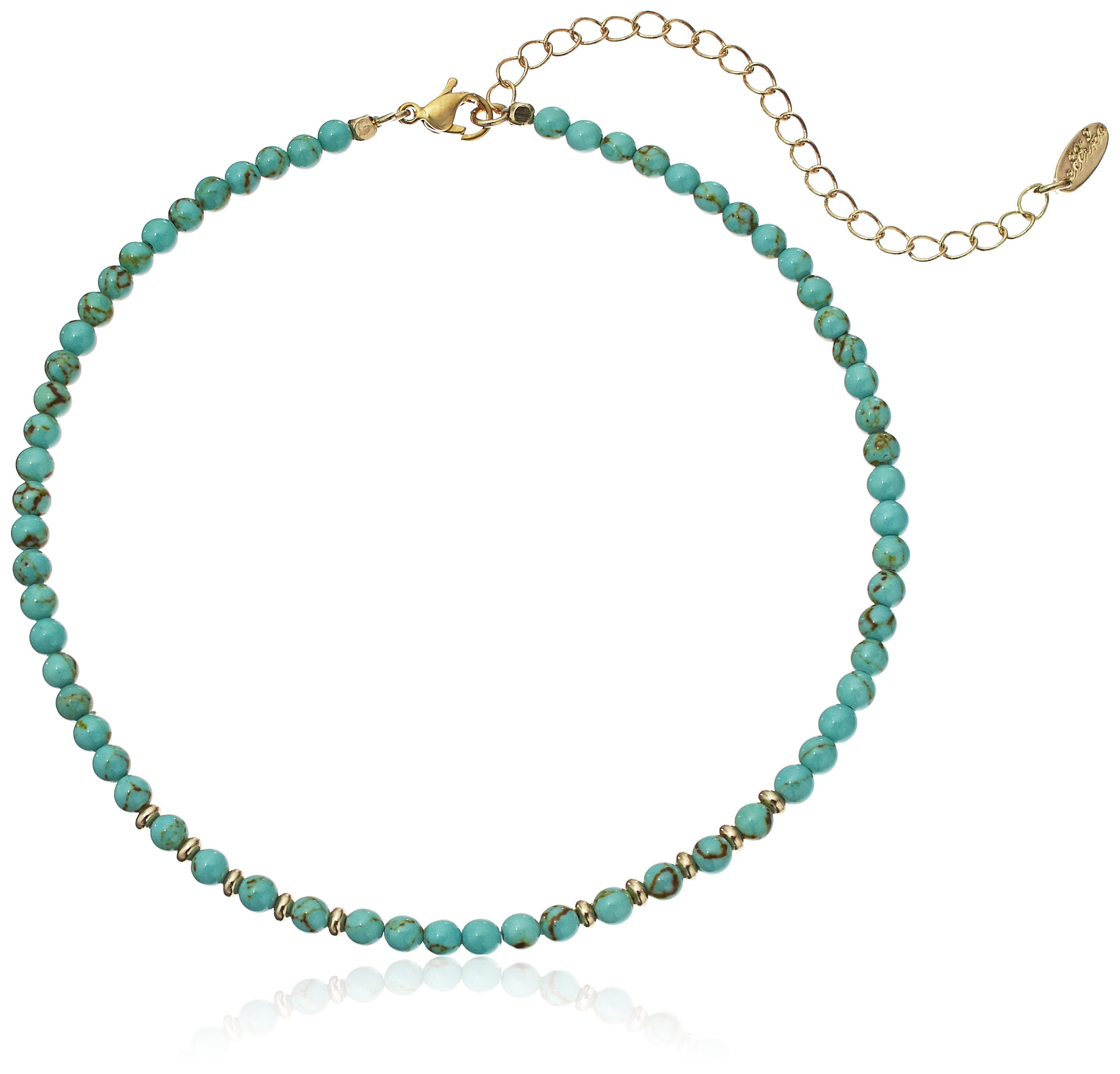 Ettika Still Surprise You Turquoise and Gold Choker Necklace