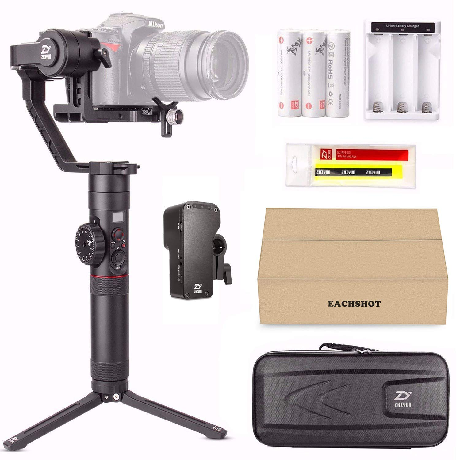 Zhiyun Crane 2 (with Servo Follow Focus) 3-Axis Handheld Gimbal Stabilizer 7lb Payload OLED Display 18hrs Runtime Toolless Balance Adjustment for Camera Weighing 1.1lb to 7lb Zhiyun Crane-2 by zhi yun