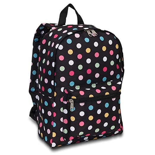 Everest Luggage Basic Backpack (One Size, Polka Dot)