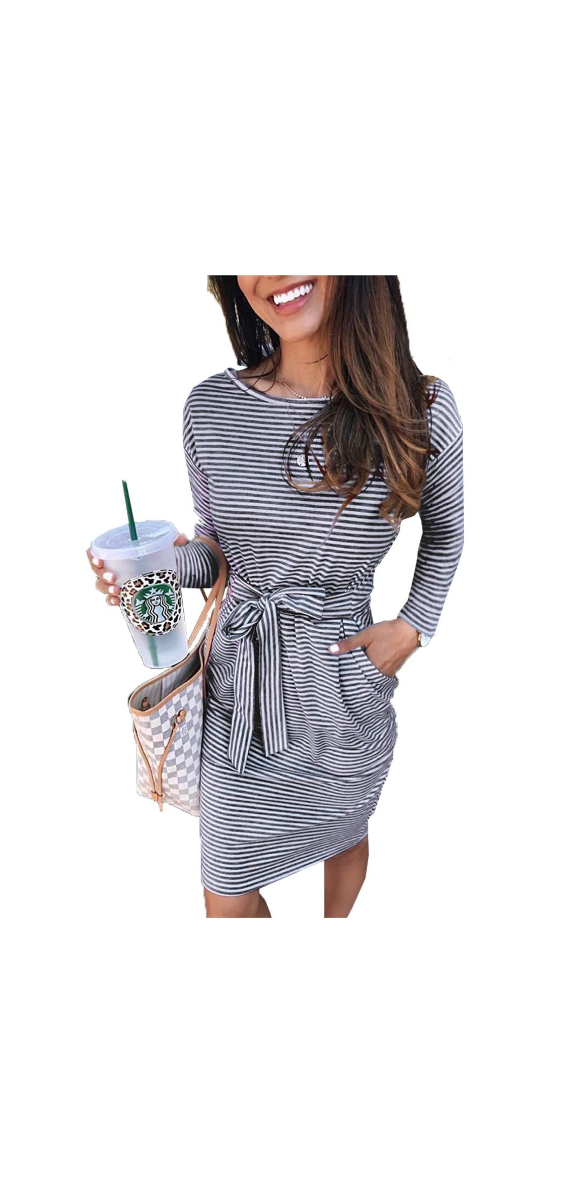 Women's  Casual Short Sleeve Party Bodycon With