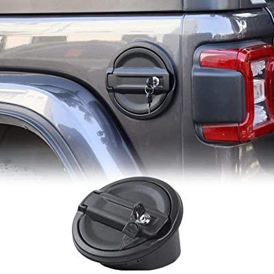 For Jeep JL Gas Cap Cover, Locking Fuel Door for 2020-2020 Jeep Wrangler JL & Unlimited Sport Rubicon Sahara 2-Door 4-Door: Automotive