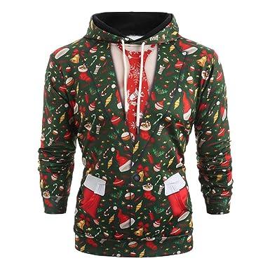 Männer Langarm Hoodies Mann Junge Weihnachten Pullover Mode