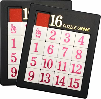 Toysmith Number Slide Game Classic Brain Teaser Kid Games Toys Puzzles