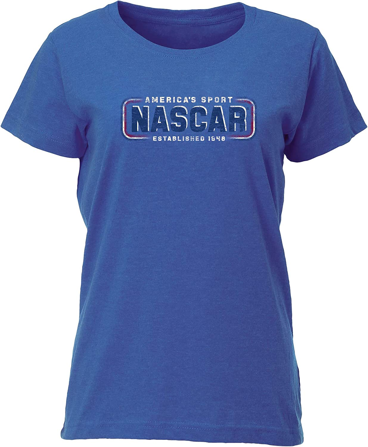 Ouray Sportswear NASCAR Womens W Vintage Blend Relaxed Fit S//S T NASCAR Small Vintage Royal