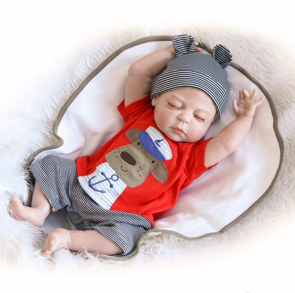 2a434bfc9def 20 inch Full Body Silicone Reborn Baby Doll Boy Toys 50cm Real Life Reborn  Baby Dolls Soft Silicone Vinyl Reborn Lifelike Newborn Baby Girl   Amazon.co.uk  ...