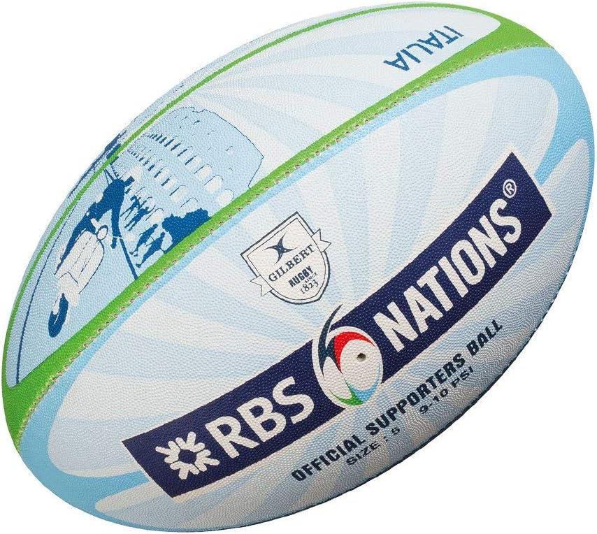 Gilbert RBS 6 Nations Mini - Pelota de Rugby, Color: Amazon.es ...