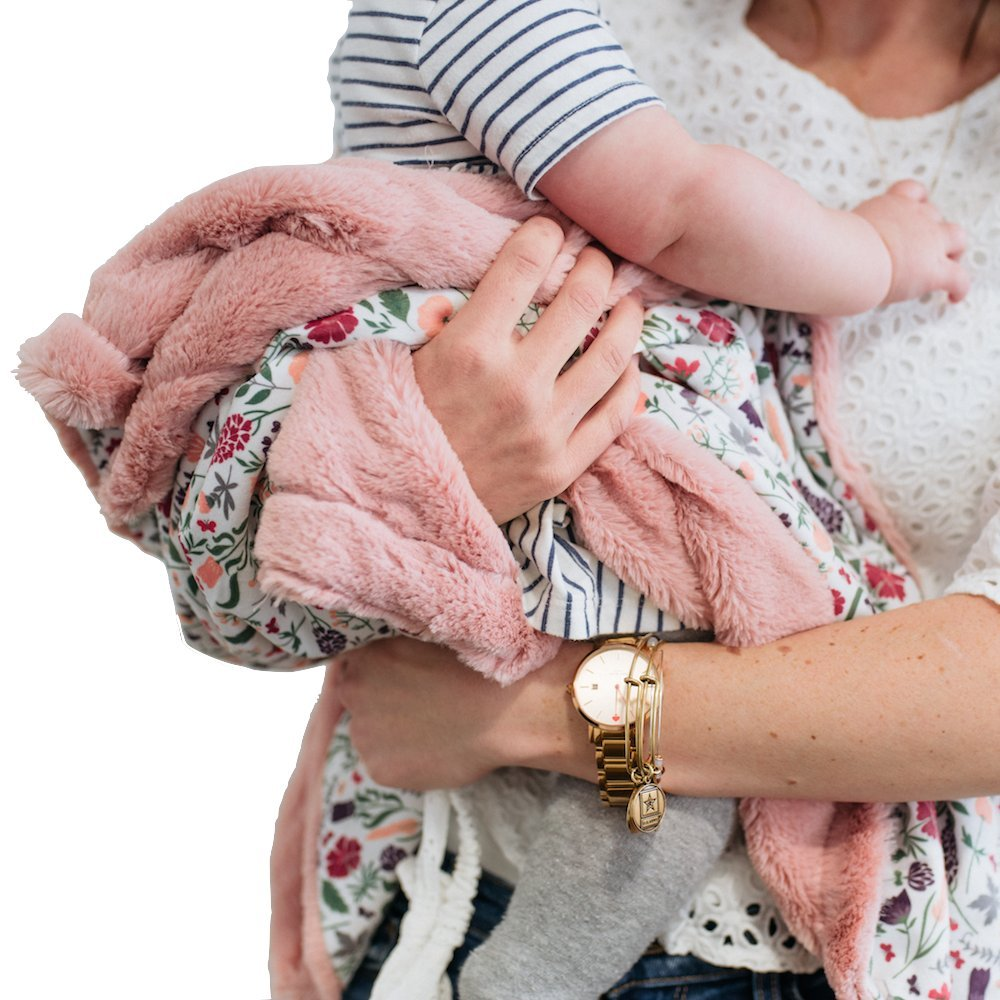 Minky Super Soft Baby Blankets, Receiving Blankets with Floral Garden Printed Design by Graced Soft Luxuries by GRACED SOFT LUXURIES