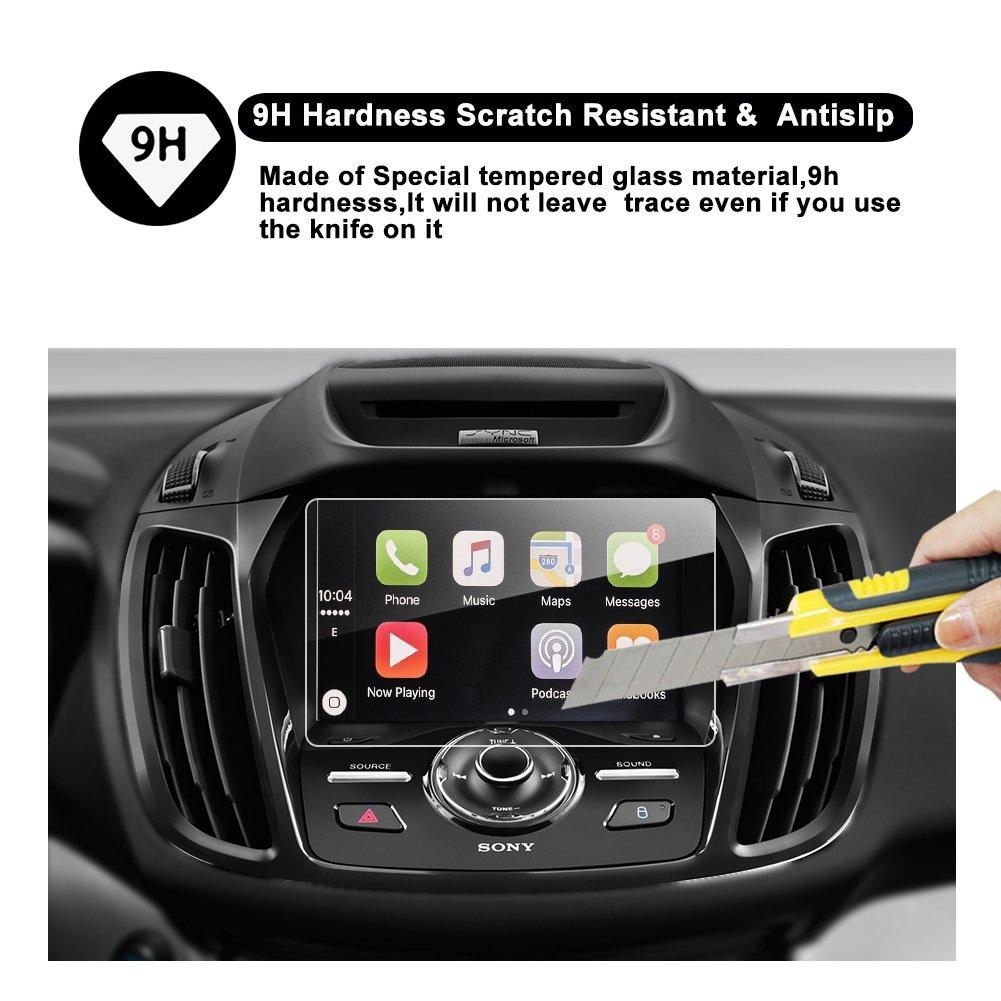 RUIYA Car Navigation Screen Protector, SYNC2 SYNC3 8-Inch In-Dash Screen  Protector for Ford Escape COUPE/HATCHBACK, High Clarity, Anti-Fingerprint &