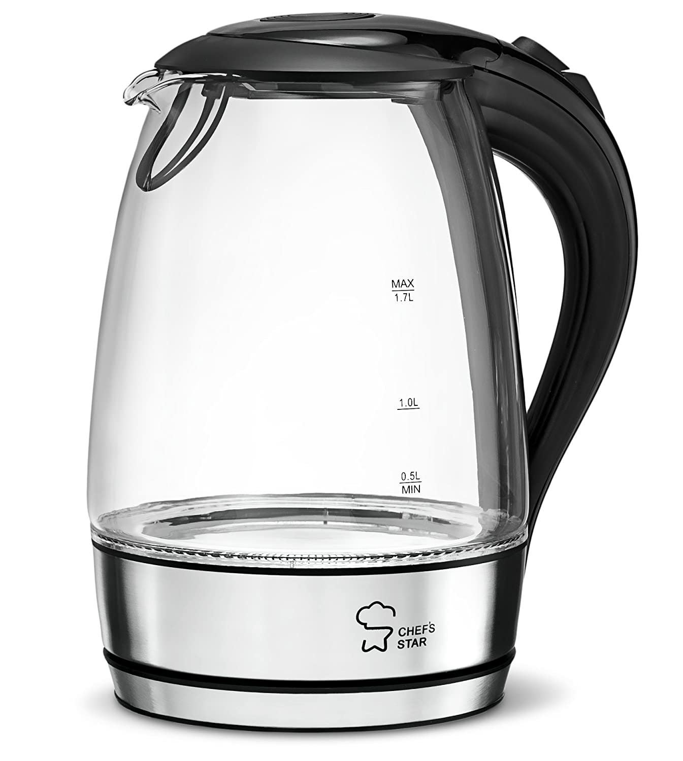 Chef's Star Borosilicate Glass Electric Kettle