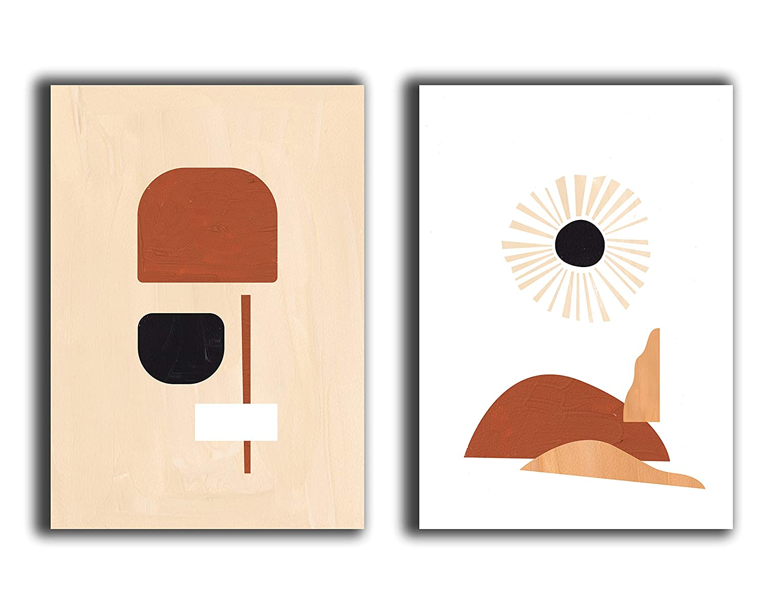 Abstract Geometric Wall Art Prints - Set of 2-11x14