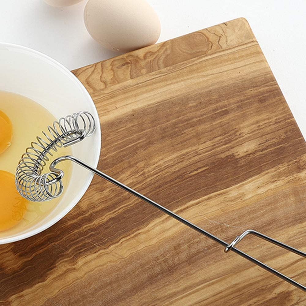 1 Pieces Stainless Manual Whisk Spring Coil Egg Beater Used for Household Cream Stir Bar Egg Mixer Mini Whipper