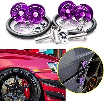 Amazon Com Xotic Tech Jdm Quick Release Fasteners For Car Bumpers Trunk Fender Hatch Lids Purple Automotive