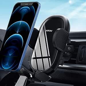 Mpow Soporte Móvil Coche, Soporte Móvil Télefono para Rejilla del Aire Ventilación con Abrazadera Ajustable y 360° Rotación, Porta Movil Coche para iPhone 12 11 Pro Max SE XR Galaxy S20 S10 Huawei P40