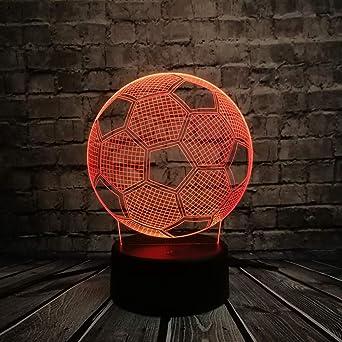 orangeww Deportes Led con forma de balón de fútbol/Luz de noche 3d ...