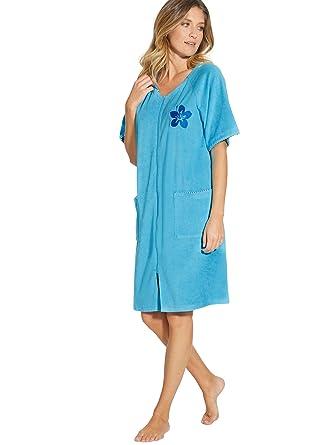 Taille Robe Femme D'intérieur Lingerelle En ÉpongeZippée 8n0kwPZONX