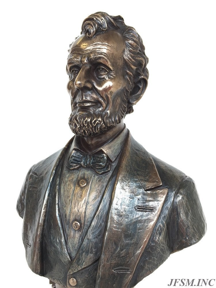 President Abraham Lincoln Bust on Plinth Statue Sculpture