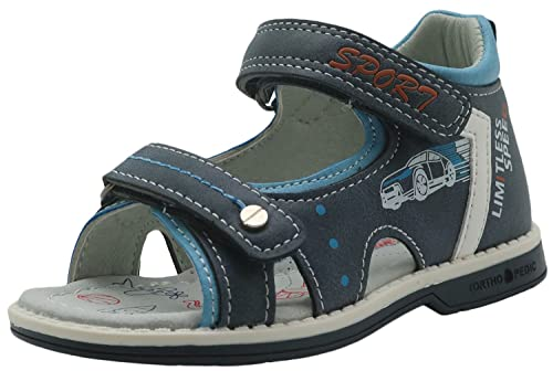 df1d9ddeea Apakowa Kids Summer Shoes Toddler Boys Sandals with Arch Support (Color :  Blue, Size