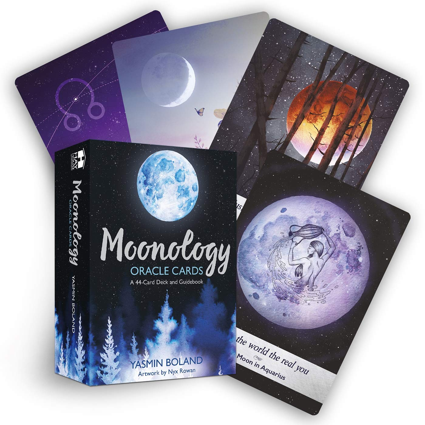 UNTERING Moonology Oracle Cards 44 Cards Deck Full English Oracle Card Divination