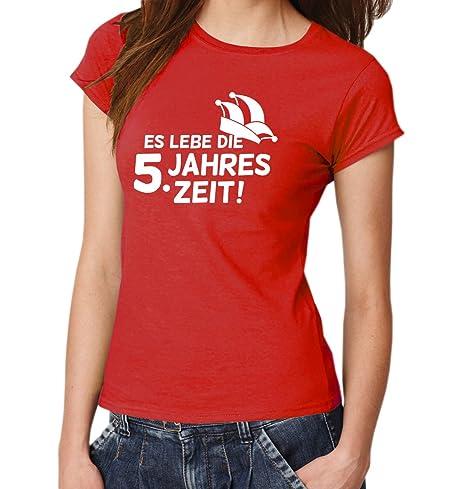 : ES LEBE DIE 5. JAHRESZEIT ::: T-Shirt Damen: Amazon.de: Bekleidung