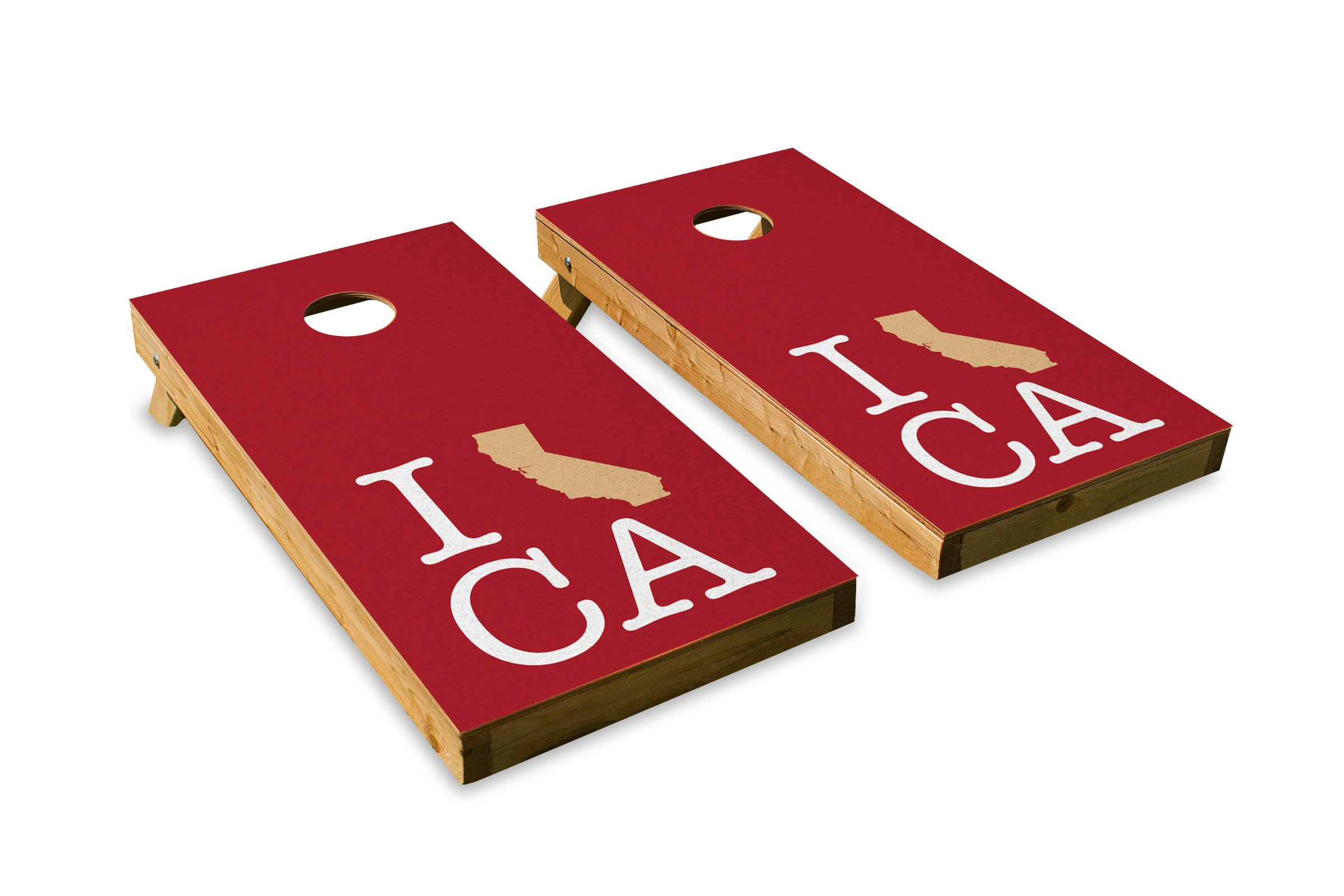 California - San Francisco Football State Pride - Cornhole Crew - ACA Regulation Size Cornhole Board Set