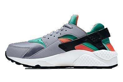 check out 243ac 1a11d Femmes Nike Huarache loup gris  total Orange  sommet blanc  gree  634835-012