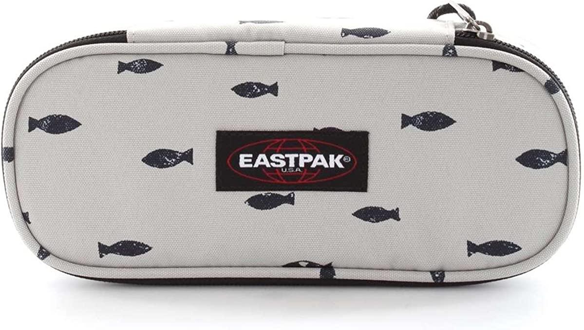 Eastpak Oval Single Estuche, Diseño Fish Stamp, Color Blanco: Amazon.es: Equipaje